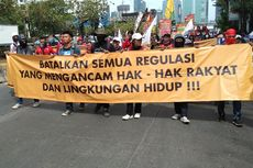 Long March ke Gedung DPR, Kelompok Buruh Dihadang Polisi