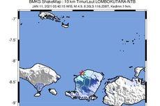 Gempa Hari Ini: M 4,9 Guncang Lombok, Dipicu Sesar Aktif