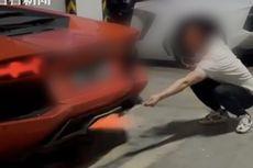 Lamborghini di China Terbakar usai Pemiliknya Pakai Api Knalpot untuk Bakar Daging