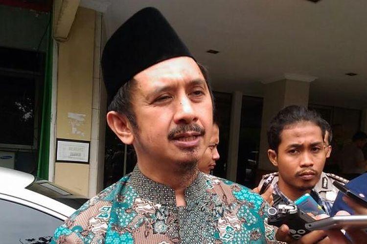 Wakil ketua Gerakan Nasional Pengawal Fatwa MUI (GNPF MUI), Zaitun Rasmin saat di Mapolda Metro Jaya, Selasa (29/11/2016).