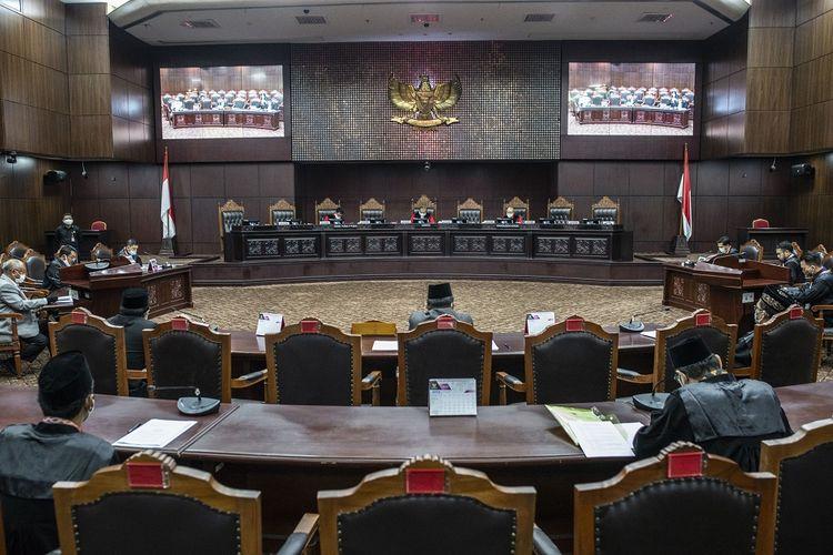 Ilustrasi sidang di Mahkamah Konstitusi (MK).