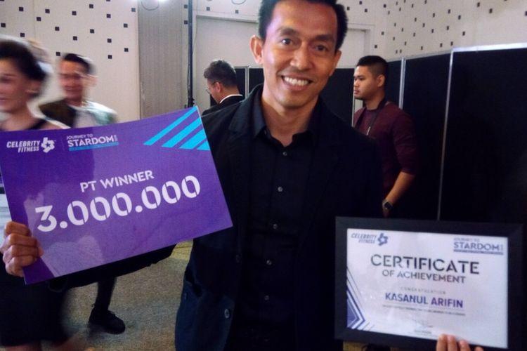 Pelatih pribadi dari Celebrity Fitness Puri Indah Jakarta, Kasanul Arifin menjadi salah satu pemenang Journey to Stardom 2019.   Program ini merupakan kompetisi yang dibuat Celebrity Fitness untuk membangkitkan antusiasme terhadap gaya hidup sehat.