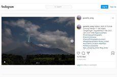 Foto Kilatan Cahaya di Puncak Gunung Merapi dari Hujan Meteor, Ini Kata LAPAN