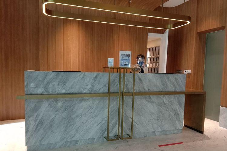 Protokol kesehatan hotel The Kuningan Suites, Jakarta, Jumat (17/7/2020).