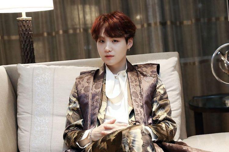 Salah satu member BTS, Min Yoon Gi atau Suga.