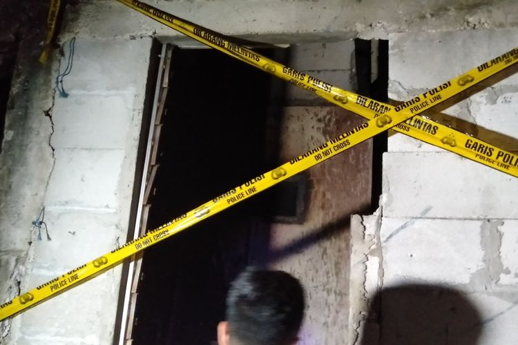 Ruang tempat Koko Hernadi (52) tewas dalam peristiwa kebakaran di kawasan Kebayoran Lama, Jakarta Selatan, Senin (27/1/2020)