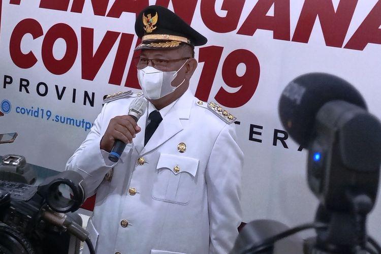 Akhyar Nasution usai dilantik menjadi wali kota Medan sisa masa jabatan 2016-2021 di Aula Tengku Rizal Nurdin, Kamis (11/2/2021) lalu