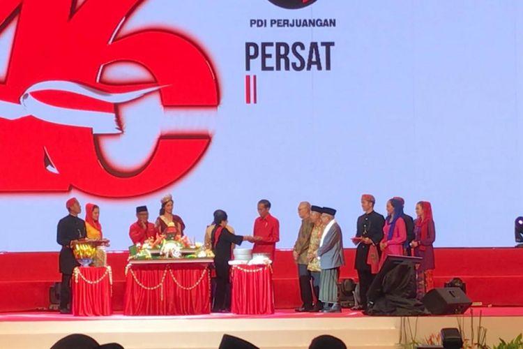 Acara HUT ke-46 PDI Perjuangan di JE Expo Kemayoran, Jakarta Pusat.