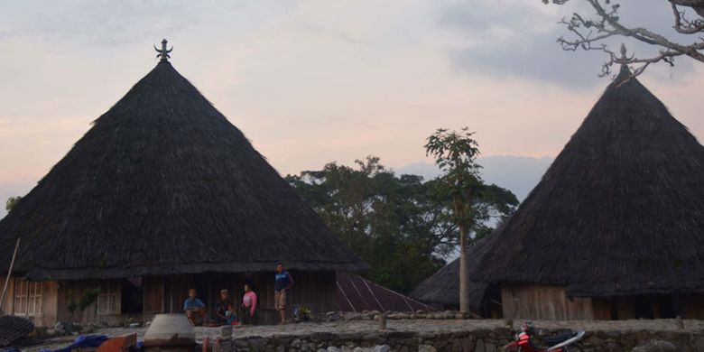 Kampung adat Mbaru Gendang Ruteng Puu di Kecamatan Langke Ruteng, Kabupaten Manggarai, Flores, Nusa Tenggara Timur salah satu kampung tertua di wilayah Flores Barat.