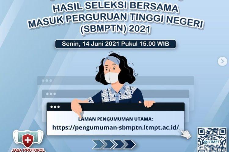 Link utama dan 30 laman mirror pengumuman hasil SBMPTN 2021.