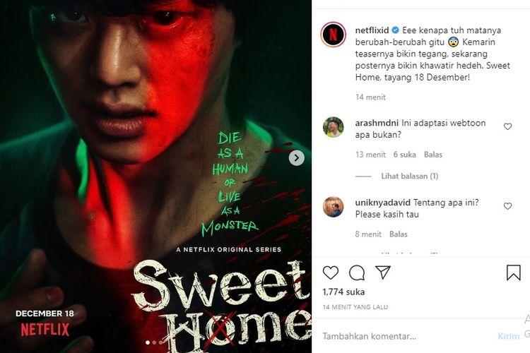 Drama Korea Sweet Home, tayang 18 Desember di Netflix.