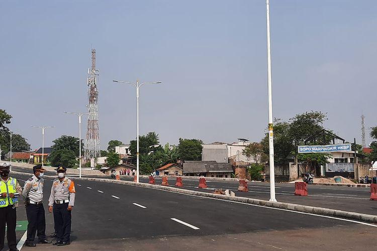 Uji coba tahap pertama flyover atau jalan layang Cakung dimulai pada hari ini, Senin (19/4/2021).