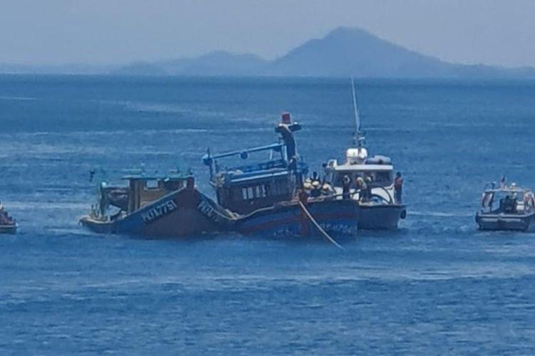 Kejaksaan Negeri (Kejari) Batam kembali tenggelamkan 6 kapal ikan asing (KIA) dari tiga negara yang mencuri ikan di perairan Indonesia.