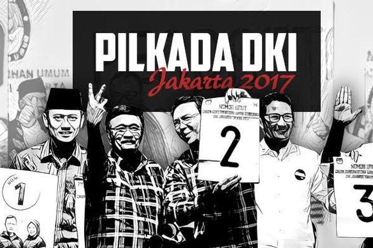 Ketiga pasangan calon gubernur dan wakil gubernur DKI Jakarta yang akan bertarung di Pilkada 2017.