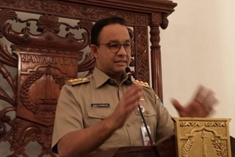 Gubernur DKI Jakarta Anies Baswedan di Balai Kota, Jakarta Pusat, Selasa (2/7/2019)
