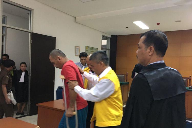 Persidangan kasus perampokan Pulomas di Gedung PN Jakarta Timur, Kamis (22/6/2017).