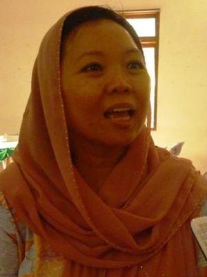 Koordinator jaringan Gusdurian, Alissa Wahid diselacara Halaqah atau Kajian bertajuk Menyelamatkan Pesantren dan Nahdliyyah dari Jebakan Korupsi di Pondok Pesantren Edi Mancoro, Desa Gedangan, Kecamatan Tuntang, Kabupaten Semarang, Senin (28/3/2016).