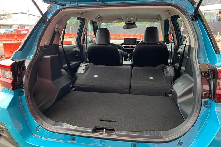 Ruang bagasi Toyota Raize