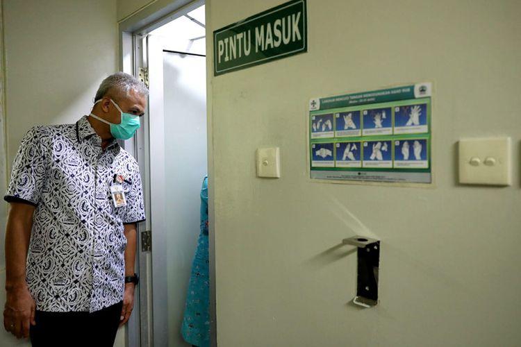 Ganjar Pranowo saat inspeksi ke Rumah Sakit Moewardi Surakarta