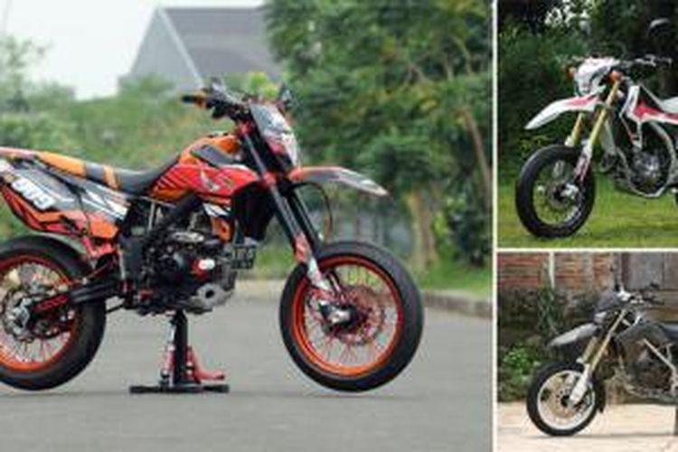 Beberapa contoh supermoto garapan Caos Custombike.