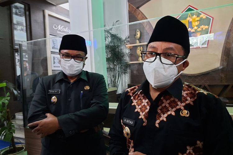 Wali Kota Malang Sutiaji bersama Wakil Wali Kota Malang Sofyan Edi Jarwoko di Balai Kota Malang, Rabu (13/10/2021).