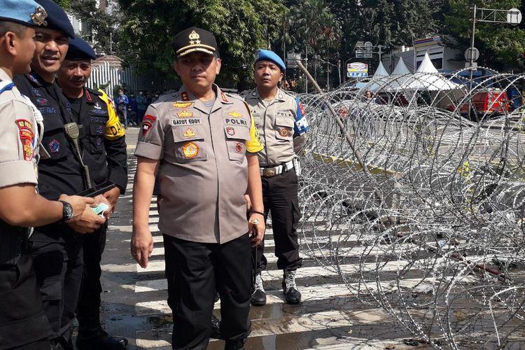 Kapolda Metro Jaya Irjen Gatot Eddy Purnomo di Jalan MH Thamrin, Jakarta Pusat, Kamis (23/5/2019).