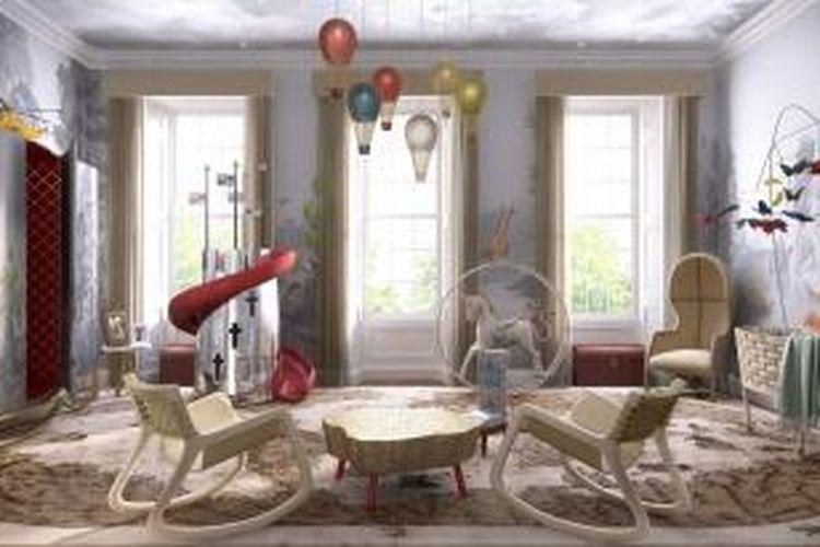 Desain imajiner menurut Red Book Agency untuk The Royal Baby Boy.
