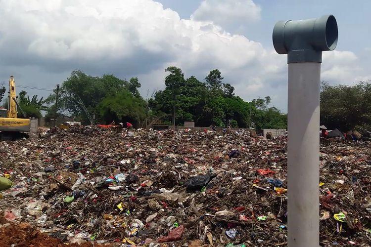 Tumpukan sampah di Kabupaten Bogor mencapai 2.850 ton per-hari, Sabtu (22/6/2019).