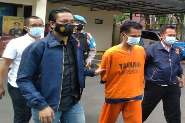 Tersangka pencurian motor dengan tindakan sadis yang ditahan di Polres Malang diancam hukuman pasal berlapis.