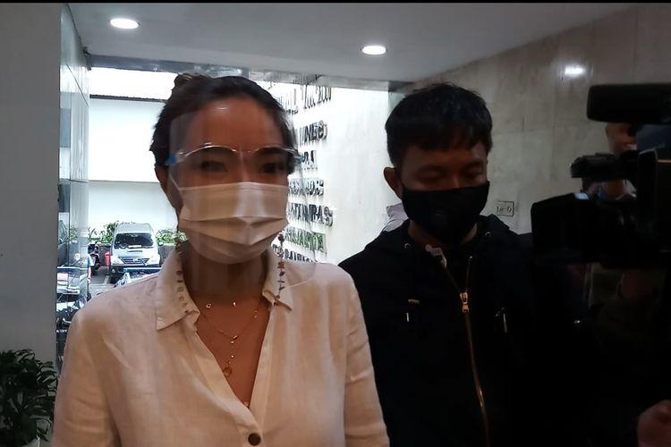 Gisel tiba di Polda Metro Jaya, Senin (18/1/2021)