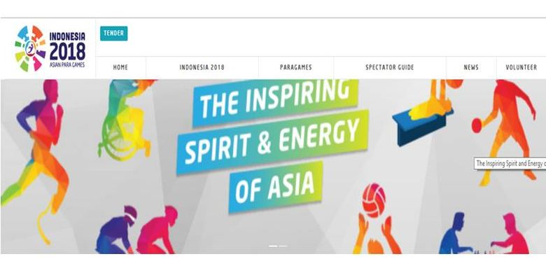Slogan Asian Para Games 2018.
