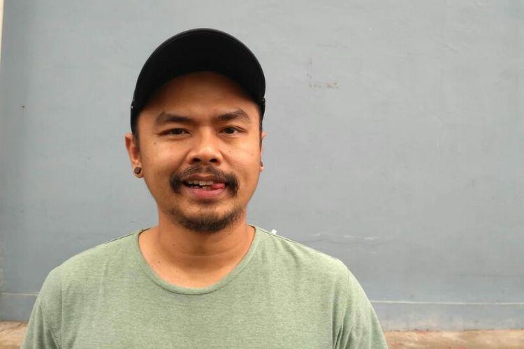 Komedian Wendi Cagur saat ditemui usai tampil di salah satu acara stasiun televisi swasta di kawasan Mampang, Jakarta Selatan, Senin (10/12/2018).