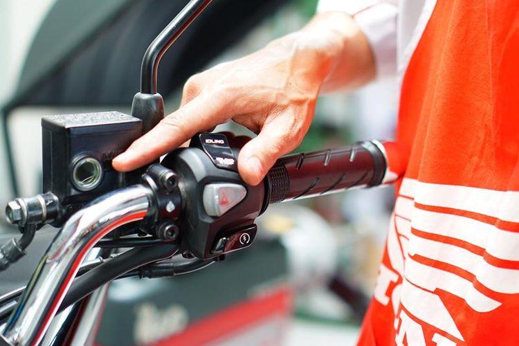 Ilustrasi minyak rem sepeda motor