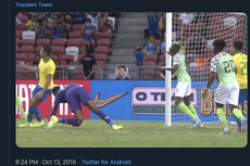 VIDEO - Brasil Vs Nigeria, Kiper Super Eagle Cedera Parah