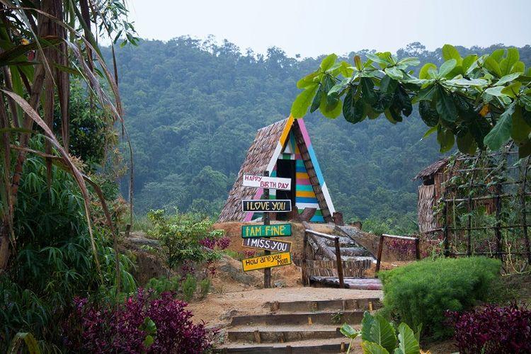 Salah satu spot berfoto di Eco Park, Kabupaten Bangka, Jumat (6/3/2020).