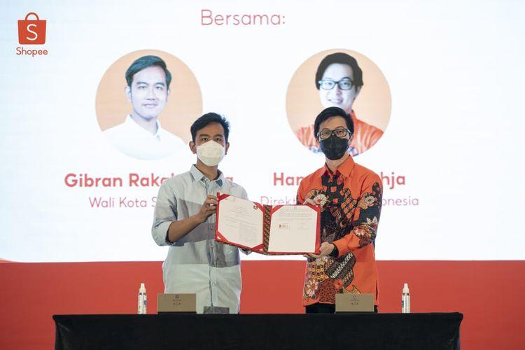 Gibran Rakabuming kerja sama dengan Shopee Indonesia bantu UMKM menuju ekspor.