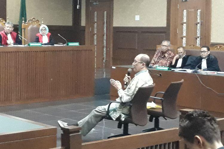 Dokter Jose Roesma bersaksi di Pengadilan Tindak Pidana Korupsi Jakarta, Jumat (18/5/2018).