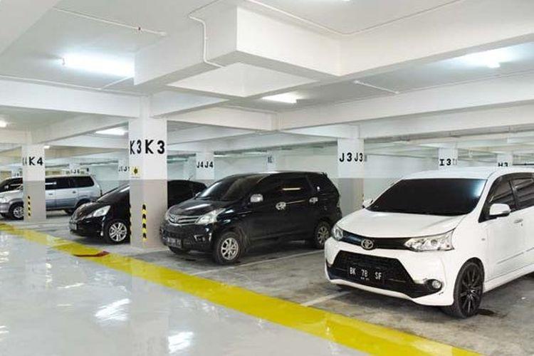 Ilustrasi parkir mobil basement