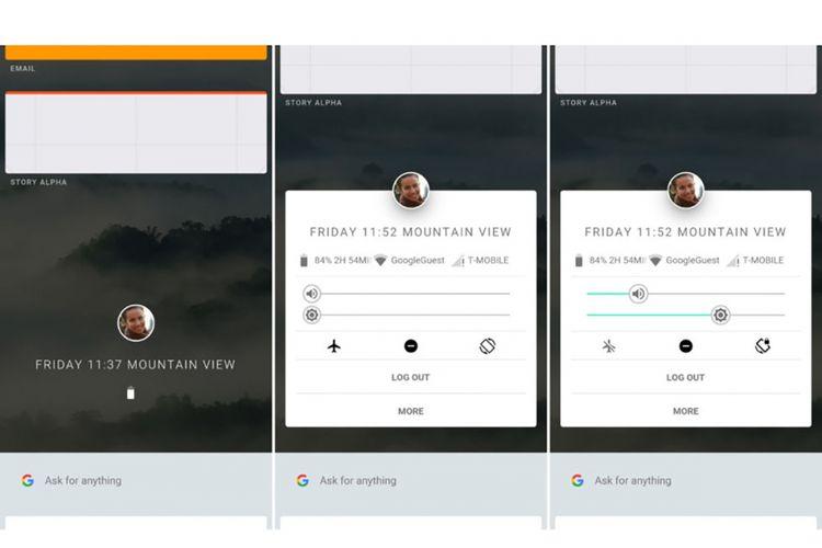 Bocoran antarmuka OS Fuchsia yang disnyalir bisa menjadi penerus Android.