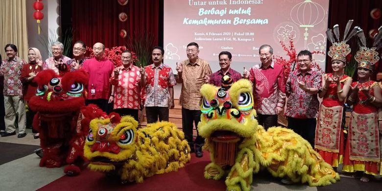 Untar menggelar Perayaan Imlek di Kampus Untar, Jakarta (5/2/2020) mengangkat tema Untar untuk Indonesia: Berbagi untuk Kemakmuran Bersama.