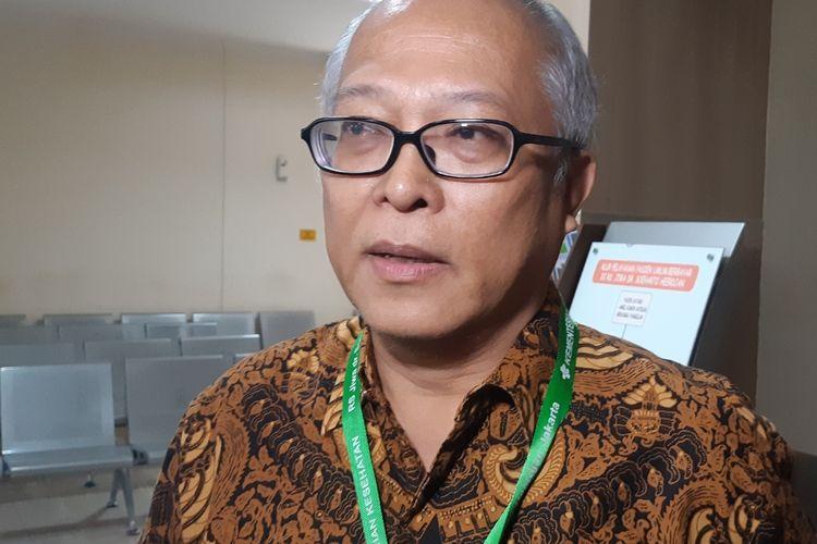Direktur Rumah Sakit Jiwa Dr. Soeharto Heerdjan, dr. Laurentius Panggabean saat ditemui di RSJ Dr. Soeharto Heerdjan, Grogol, Jakarta Barat, Selasa (10/12/2019)