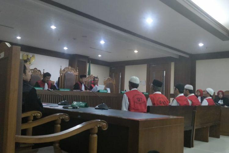 Situasi persidangan terdakwa kerusuhan 21-22 Mei di Pengadilan Negeri Jakarta Pusat, Kamis (10/10/2019).