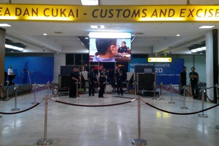 Area pemeriksaan barang kargo Bandara Soekarno Hatta, Rabu (15/4/2015)
