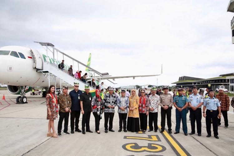 Penerbangan perdana internasional Citilink rute Banyuwangi-Kuala Lumpur, Rabu (19/12/2018).