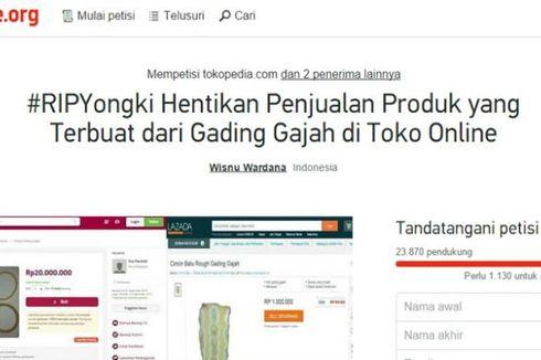 Diprotes, Tokopedia dan Bukalapak Cabut Penjualan Gading Gajah