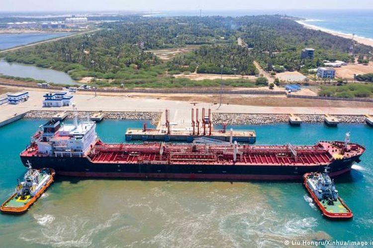 Hambantota International Harbor, a Chinese funded infrastructure project in Sri Lanka