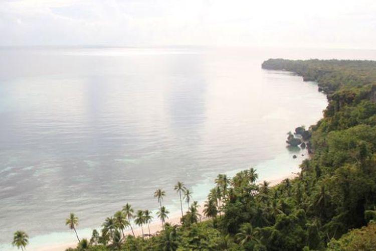Salah satu sudut Desa Kulati di Pulau Tomia, Wakatobi, Sulawesi Tenggara.