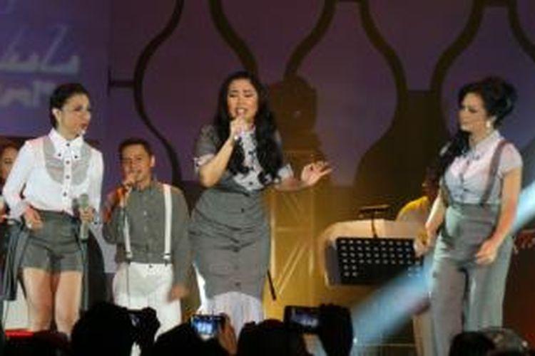 3 Diva tampil di Jakarta International Java Jazz Festival, Hall D2, JIExpo, Kemayoran, Jakarta Pusat, Jumat (6/3/2015).