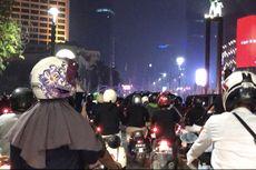 Arus Lalu Lintas Malam Lebaran di Jalan MH Thamrin Ramai Lancar, Aparat Bersiaga di Bundaran HI