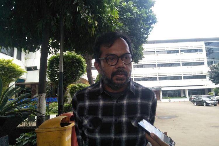 Direktur Lokataru Foundation, Haris Azhar Usai Bertemu Pejabat Pemulihan Kejaksaan Agung, Jakarta Selatan (24/1/2020)